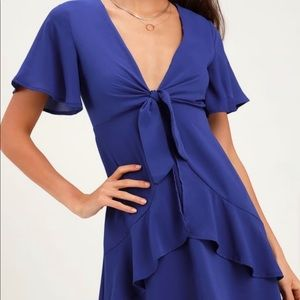NWT Lulu's plunge ruffle dress